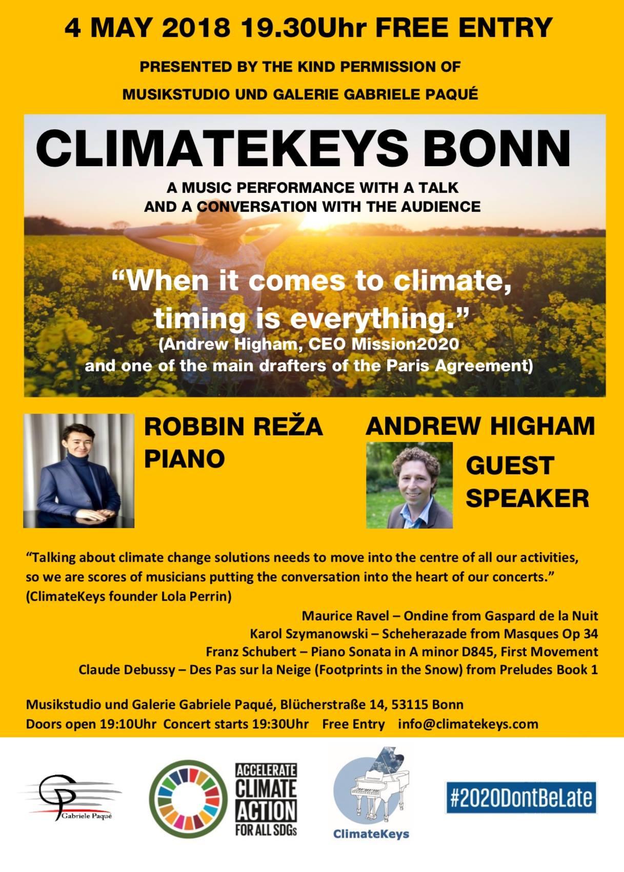 Flyer zu der Veranstaltung ClimateKeys 2018