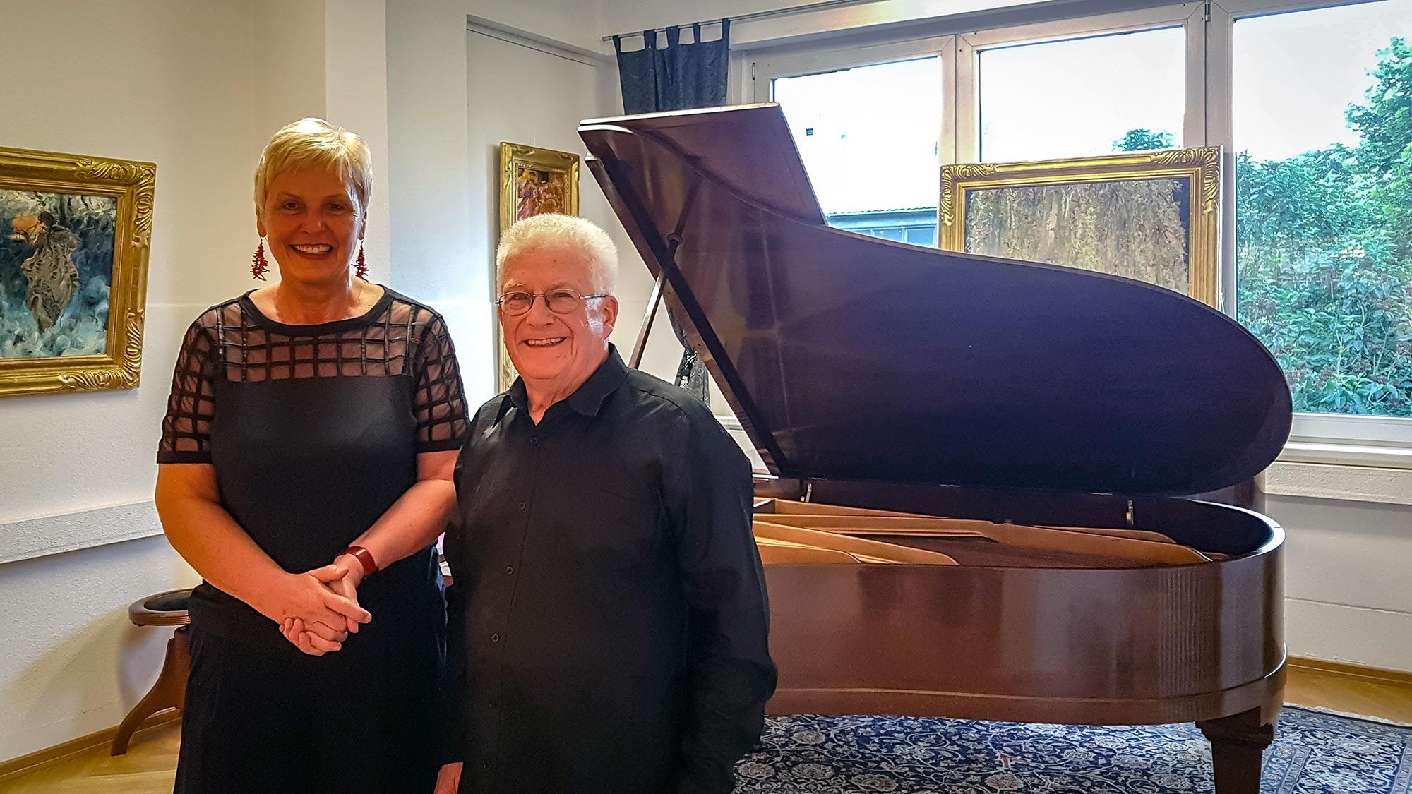 Foto von Gotthard Kladetzky und Gabriele Paqué