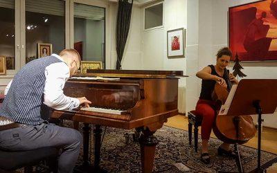 """Update 16.12.2019 – Fotos der FINISSAGE und KONZERT: Sue Schlotte und Luis Berra präsentieren """"Beethoven und Improvisationen"""""""