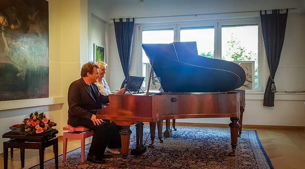 Foto von Tobias Koch und Gabriele Paqué