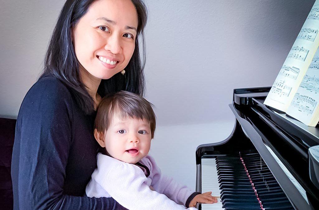 Foto Yin Chiang mit ihrer Tochter